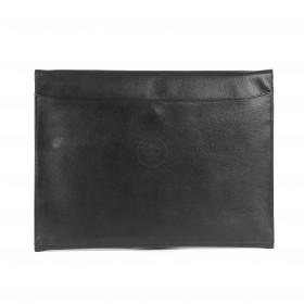 Папка натуральная кожа Калита-11011-71,  2отд,  1внеш+5внут карм,  черный грейт (71)   201150