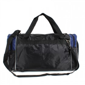 Сумка Sarabella-С 010 дорож    (П-420) ,    ножки,    1отд,    3внеш карм,    плеч ремень,    черный/синий