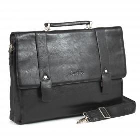Портфель искусственная кожа Cantlor-359-03,  4отд,  2внеш+6внут карм,  плечевой ремень,  черный 201263