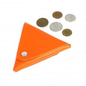 Футляр для монет Premier-F-63 натуральная кожа орнжевый флотер   (330)