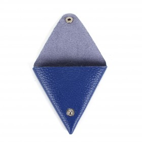 Футляр для монет Premier-F-63 натуральная кожа синий флотер   (329)
