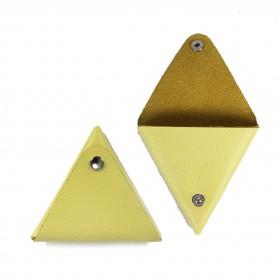 Футляр для монет Premier-F-63 натуральная кожа желтый флотер   (321)
