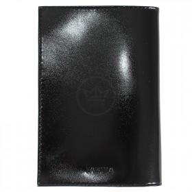 Обложка для паспорта из нат/кожи «Изящная кошка».O.31.SH.черный. 95х 135 мм. 201831
