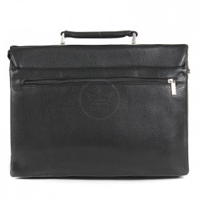 Портфель искусственная кожа Cantlor-375-01,  5отд+отд д/ноут,  2внеш+2внут карм,  плечевой ремень,  черный 202194