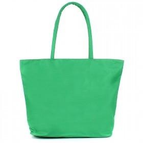Сумка пляжная текстиль 1605    (горох) ,    1отдел,    1карм,    зеленый
