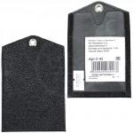Обложка пропуск/карточка/проездной Premier-V-42 натуральная кожа черный ладья   (327)