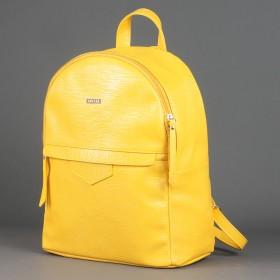 Сумка женская искусственная кожа ADEL-75   (рюкзак) ,    1отд,    плечевой ремень,    желтый игуана