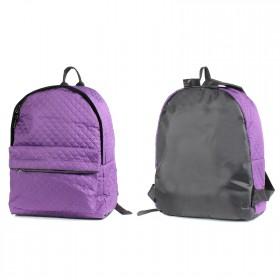 Рюкзак молодежный AMeN-143  (стежка),  уплотн.спинка,  1отд,  1внеш карм,  фиолет 203312