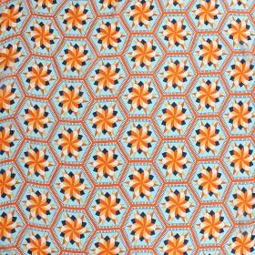 Платок шейный,   # КС 392 Полиэстер 65%,    рами 35%,    70*70см,    шифон,      (цвет 25-4)