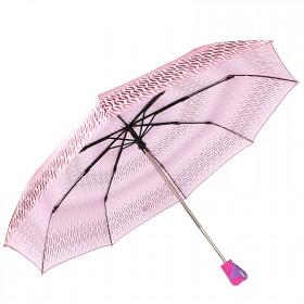 Зонт женский RST-3612,    R=56см,    суперавт;    8спиц-сталь+fiber,    3слож,    сатин,    розовый