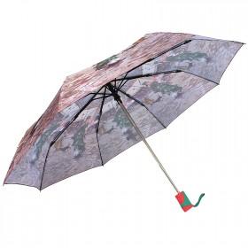 Зонт женский RST-3630,    R=56см,    суперавт;    8спиц-сталь+fiber,    3слож,    полиэстер,       (Девушка)    коричневый