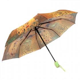 Зонт женский 3742,    R=56см,    суперавт;    8спиц-сталь+fiber,    3слож,    полиэстер,      (Девушка)    желтый