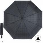 Зонт муж TR-3310,    R=56см,    полуавт;    8 спиц - сталь-fiber;    3 слож,    полиэстер,      (мелкая клетка)    синий