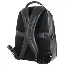 Сумка мужская натуральная кожа MT-582-3   (рюкзак) ,    2отд,    3внут+4внеш карм,    черный флотер   (3080)