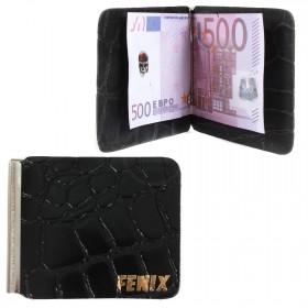 Зажим для купюр FNX-LZ-01 н/к,  черный скат (312)  203975