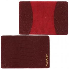 Обложка для паспорта FNX-PVS-001 натуральная кожа бордо кайман (308)  203976