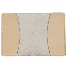 Обложка для паспорта FNX-PVS-001 натуральная кожа бежевый перламутр (314)  203977
