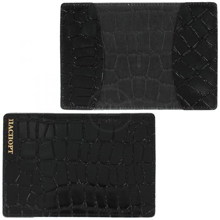 Обложка для паспорта FNX-PVS-001 натуральная кожа черный скат (312) Артикул: 203978 Размеры: 9 x 13 см. Бренд: Феникс