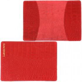 Обложка для паспорта FNX-PVS-001 натуральная кожа алый кайман (63)  203979