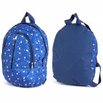 Рюкзак детский TL-РД-02,    прост спинка,    2отд,    1внеш карм,    синий    (фламинго)