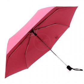 Зонт женский ТриСлона-076 С,  R=54см,  суперавт;  7спиц,  3слож,  полиэстер,  розовый 204404