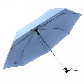 Зонт женский ТриСлона-076 С,  R=54см,  суперавт;  7спиц,  3слож,  полиэстер,  голубой 204407
