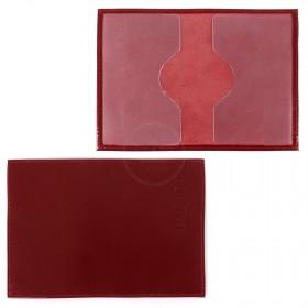 Обложка для паспорта Cayman-П 11л натуральная кожа красный сафьян (52)   204437