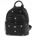 Сумка женская искусственная кожа DJ-CM 3701-BLACK   (рюкзак+кошелек) ,    1отд,    2внут+2внеш/карм,    черный