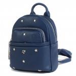 Сумка женская искусственная кожа DJ-CM 3701-BLUE   (рюкзак+кошелек) ,    1отд,    2внут+2внеш/карм,       (УЦЕНКА лопнула ручка)    синий