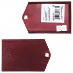 Обложка пропуск/карточка/проездной Premier-V-42 натуральная кожа бордо сафьян   (582)