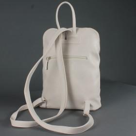 Сумка женская искусственная кожа Дила-006    (рюкзак) ,    1отд,    2внут+2внеш карм,    светло-бежевый