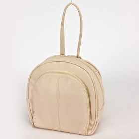 Сумка женская искусственная кожа Дила-003    (рюкзак) ,    2отд,    3внут+1внеш карм,    светло-бежевый