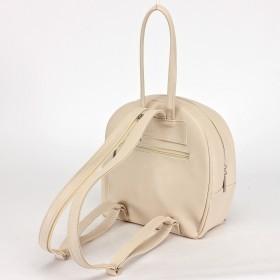 Сумка женская искусственная кожа Дила-003  (рюкзак),  2отд,  3внут+1внеш карм,  светло-бежевый 205390