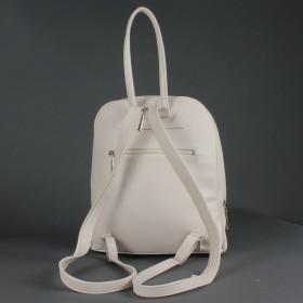 Сумка женская искусственная кожа Дила-002    (рюкзак) ,    1отд,    3внут+2внеш карм,    светло-бежевый