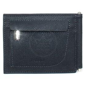 "Зажим натуральная кожа ""  Грейд""  -Z.9.LG.   (откидной,    6внут карм,    внешний карман на молн) ,    синий"