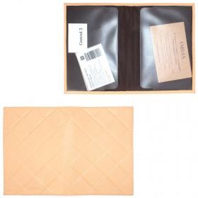 Обложка для паспорта натуральная кожа «Soft»-O.89.FP.персик  207253