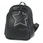 Сумка женская искусственная кожа GR-1589    (рюкзак) ,    2отд,    2внут+1внеш карм,    черный    (звезда)