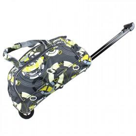 """Сумка на колесах AMeN-К-1  (22"""")  дорож  (Дизайн),  1отд,  1внеш карм,  серый/желтый  (рисунок)  208146"""