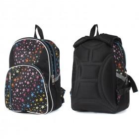 Рюкзак TL-РМ-04,  молодежный,  эргоном.спинка,  2отд,  2внут+2внеш карм,  звезды цветные 208860