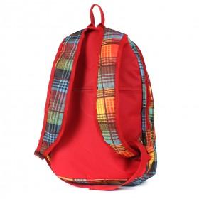 Рюкзак молодежный TL-РМ-01,  уплотн.спинка,  2отд,  клетка оранжевый 208865
