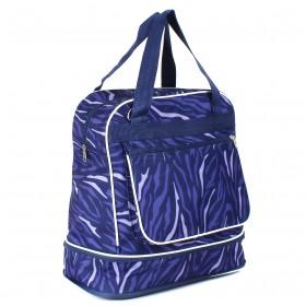 Сумка TL-СХ-04,  хозяйственная,  трансф низ,  1отд,  плечевой ремень,  1внеш карм,  фиолет линии 208923