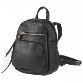 Сумка женская искуственная кожа GR-1617  (рюкзак-мини),  2отд,  2внут+3внеш карм,  черный 208950