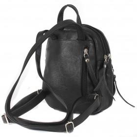 Сумка женская искусственная кожа GR-1617    (рюкзак-мини) ,    2отд,    2внут+3внеш карм,    черный