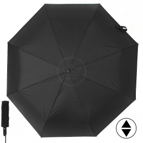 Зонт муж ТриСлона-600,  R=64см,  3слож,  суперавт,  9спиц,  ручка-прямая,  полиэстер,  черный 208973
