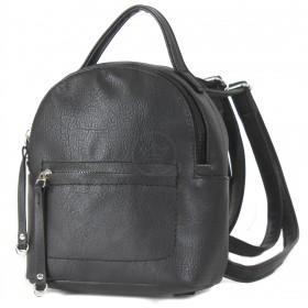 """Сумка женская искусственная кожа M.Bag-""""  Вита""""      (рюкзак)    ;    1отд,    1внут+1внеш карм,    черный"""