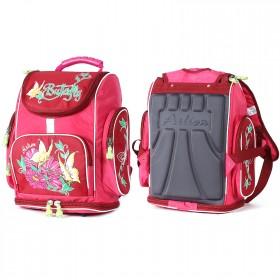 Рюкзак Арлион-395  детский,    эргоном спинка,   1отд,    4внешн карм,    розовый    (цветы и бабочки)