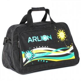 Сумка дорожная Арлион-432,  без подклада,  плеч рем,  жесткое дно,  ножки,  1внеш+1внут карм,  черный/зелен/желт  (Arlion)  209227