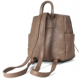 Сумка женская искуственная кожа GR-1616  (рюкзак-мини),  1отд,  3внут+3внеш карм,  какао 209297