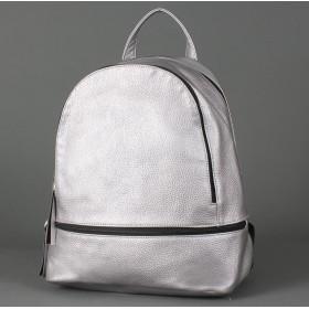 """Сумка женская искусственная кожа M.Bag-""""  Марсиль""""      (рюкзак)    ;    2отд,    1внут+1внеш карм,    серебро"""
