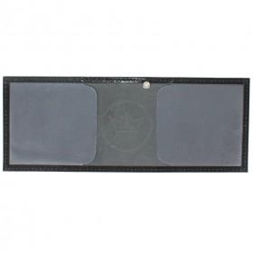 Обложка Croco-у-600 (для удостоверения)  натуральная кожа черный шик (1)  209467